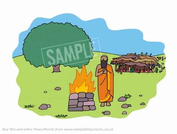 Abram builds an altar in Canaan.