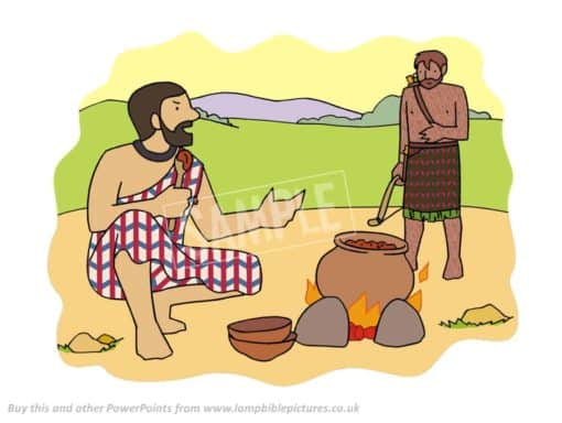 Esau sells his birthright for a bowl of stew