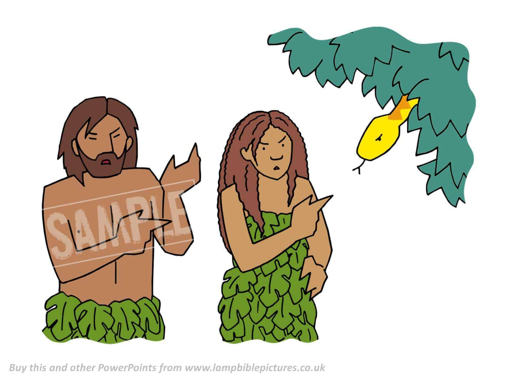 adam eve and the serpent Of all the animals god created, the serpent was the most tricky and deceitful he came to eve and asked, really none of the fruit in the garden.