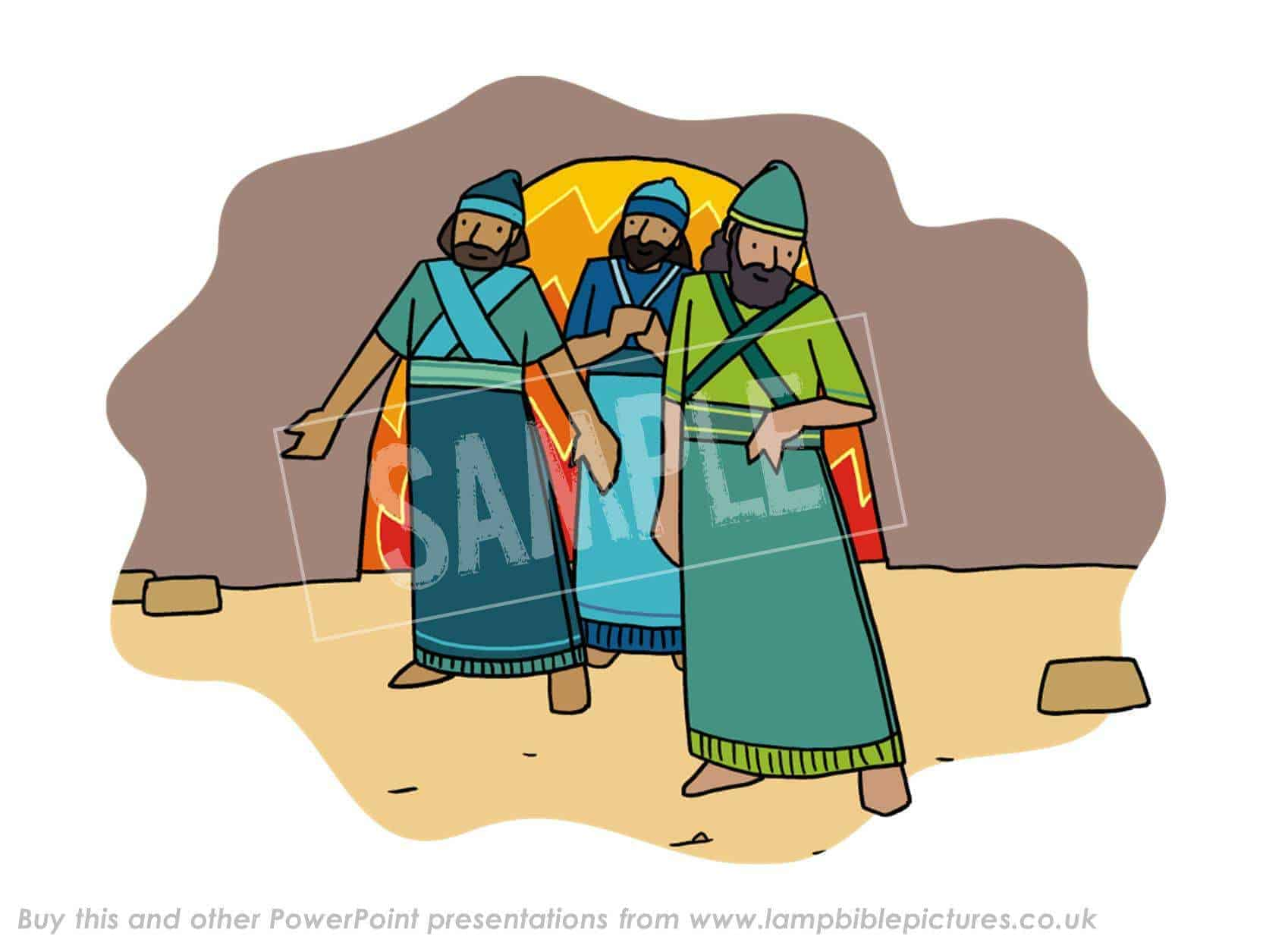 the fiery furnace lamp bible pictures
