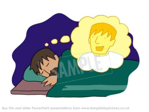 The angel speaks to Joseph in a dream