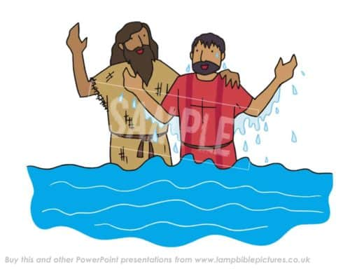 Jesus comes up out of the water