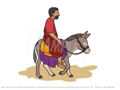 Jesus on the donkey