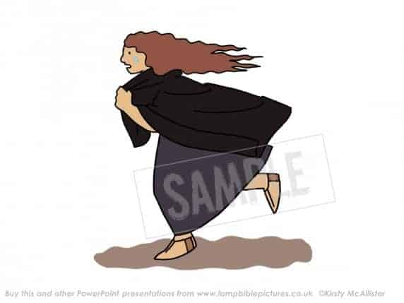 Mary Magdalene runs to find Peter & John.