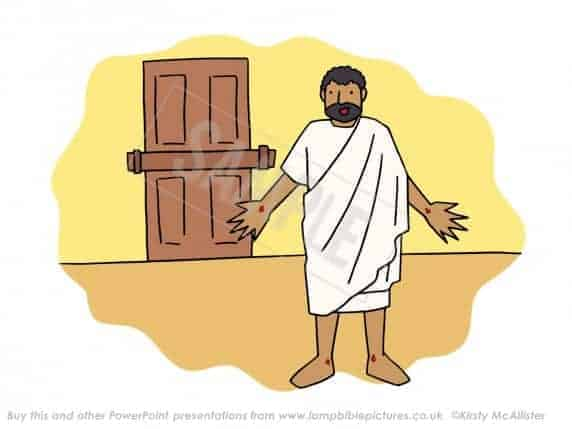 Jesus appears to the disciples through a locked door.