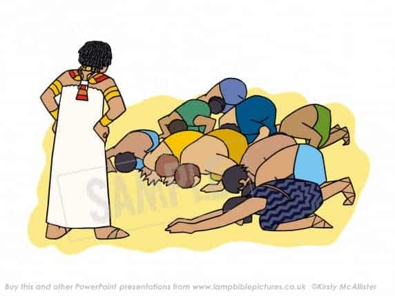 Brothers bow to Joseph