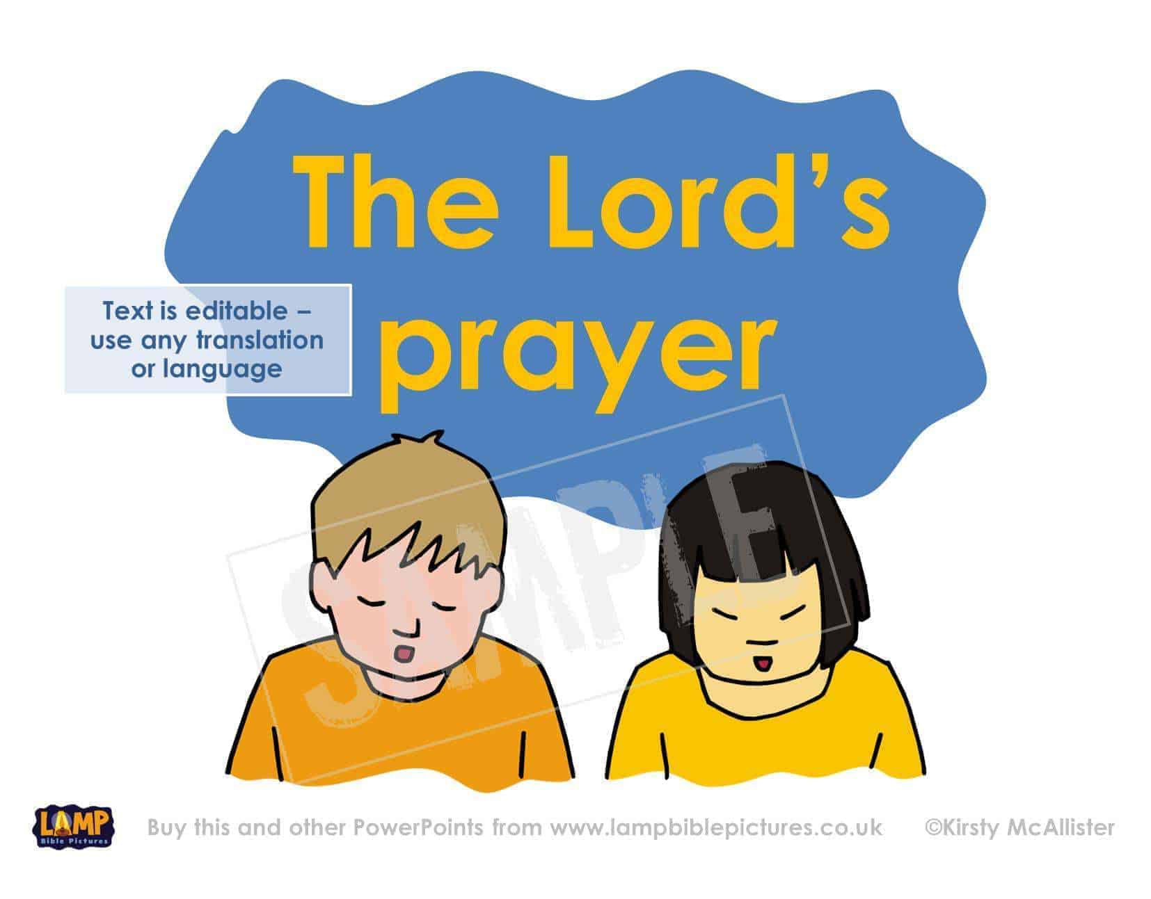 the lord u0027s prayer lamp bible pictures