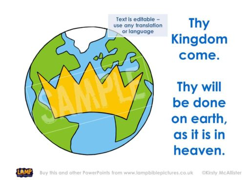 Thy Kingdom come. Thy will be done on earth, as it is in heaven.