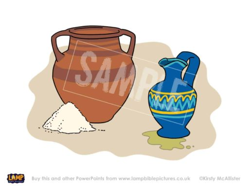 The widow's jar of flour and jug of oil don't run out