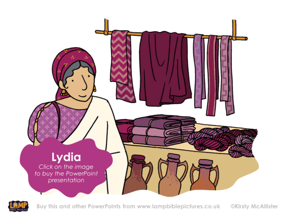 A Bible story PowerPoint presentation about Lydia