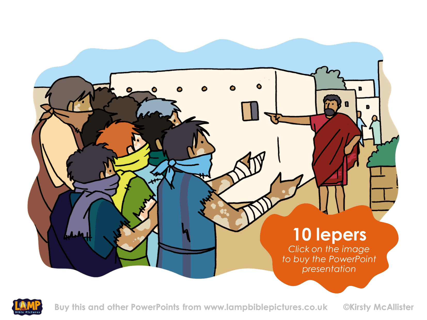 10 lepers lamp bible pictures