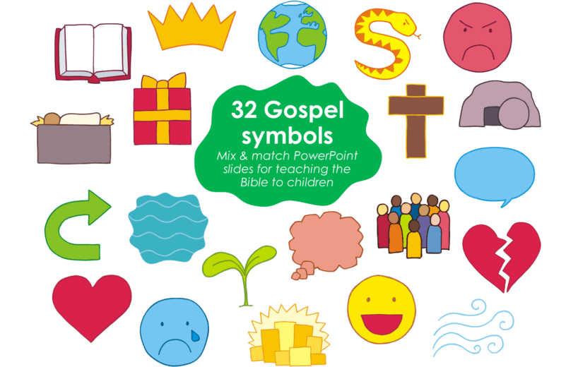 A Bible story PowerPoint presentation - Gospel symbols