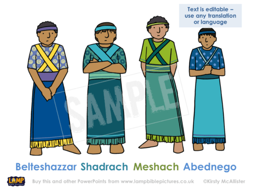 New names - Belteshazzar, Shadrach, Meshach, Abednego